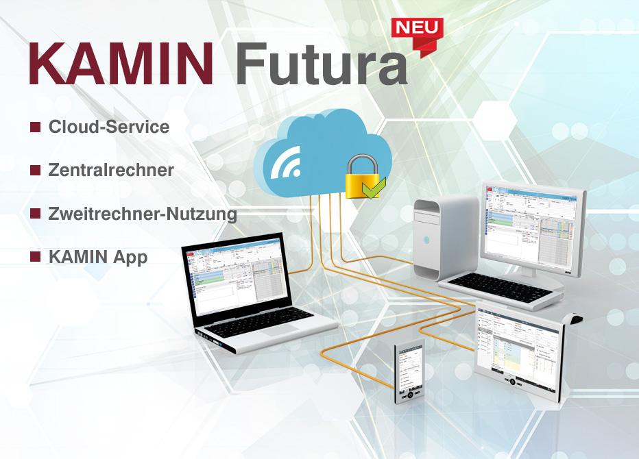 Kamin futura verbindet * Schornsteinfeger Software und Schornsteinfeger App!