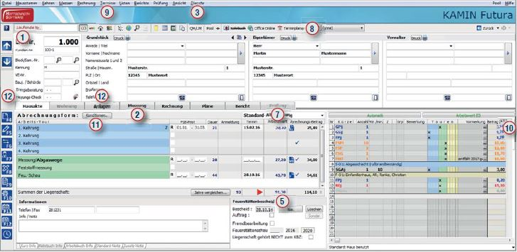 Die neue Kamin futura Schornsteinfeger Software