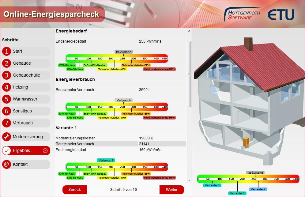 Online-Energiecheck